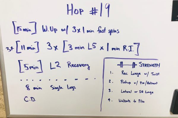 HOP(ain) Cycling #19 – 3 sets of 3x1x3x1x3 at L5